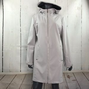 Calvin Klein feather gray trench coat